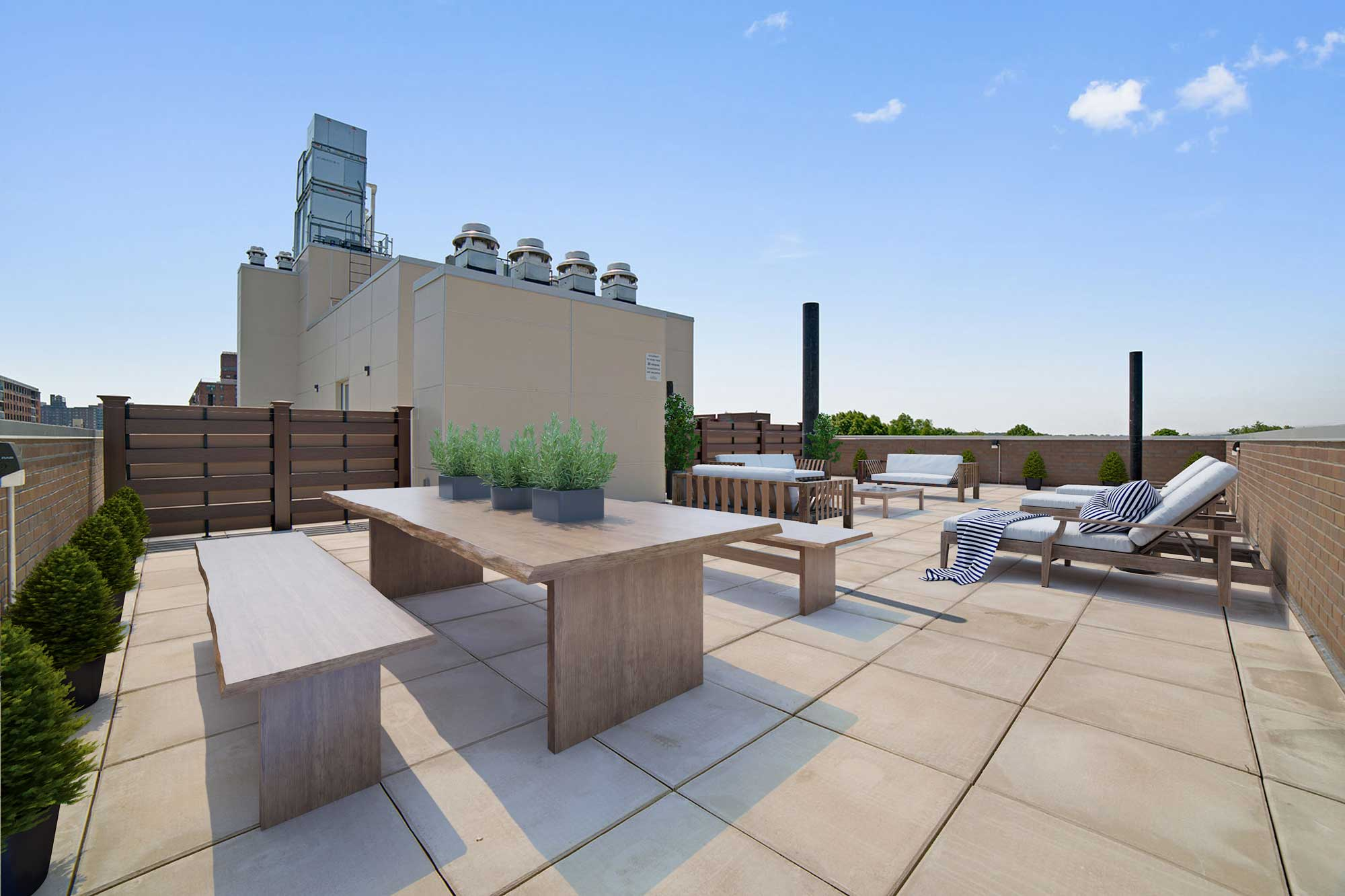 Common Seventh Floor Terrace Boasting Views All The Way To